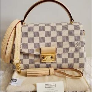 NEW Louis Vuitton Croisette Damier Azur Cross Body